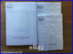 Yves Delorme Triomphe Blanc Double Duvet Cover And Two Pillowcases Set, Rrp £399