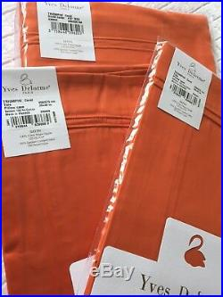 YVES DELORME TRIOMPHE CORAL SATIN Duvet Cover Set DOUBLE