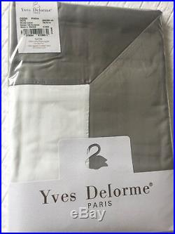 Yves Delorme COCON BLANC PLATINE SATIN Duvet Cover Set DOUBLE