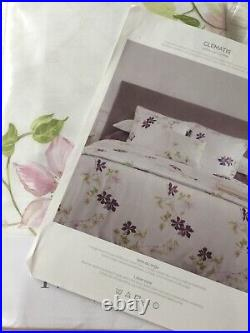 Yves Delorme Clematis Blanc Satin Duvet Cover Set Double Luxury