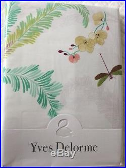 Yves Delorme EVASION MENTHE Duvet Cover Set DOUBLE