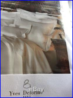 Yves Delorme Etoile Blanc Duvet Cover Set Double Palace Collection Luxury