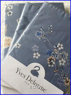 Yves Delorme Ramage Floral Satin Duvet Cover Set Double Luxury