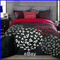 Zen Black Red Butterflies Comforter Double Sided Set New Home Bedding by Intima